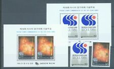 South Korea 1986 Asian Games set of 2 and 2 miniature sheets sg.1743-5 MNH