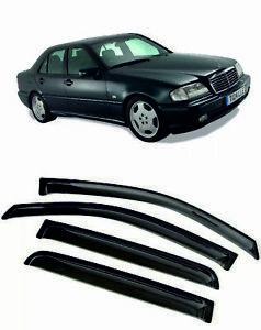 For Mercedes-Benz C W202 1993-2000 Window Visors Sun Rain Guard Vent Deflectors