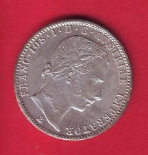 R* AUSTRIA HUNGARY EMPIRE 1/4 FLORIN SILVER 1859 B aUNC/UNC DETAILS