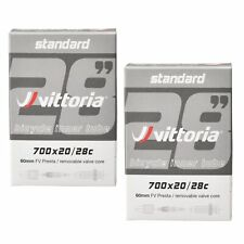 2x Vittoria Bicycle Inner Tubes - 700 x 20/28c, 60mm Presta Removable Core Valve