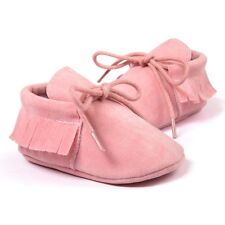 Spring/autumn Baby Moccasins Shoes Scrub First Walkers Pink 12cm F2o9