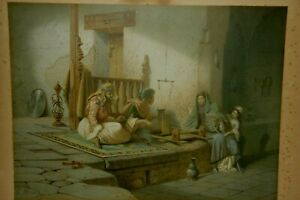Carl Werner Cromolithograph signed on the plate and dated 1873