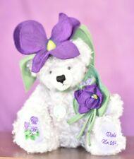 Hermann Violet Flower Teddy Bear Limited Edition Tagged
