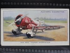 No.34 GEE BEE SUPER SPORTSTER (USA) - Aeroplanes, Civil - John Player 1935