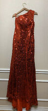 NWT OYISHA SEQUIN FORMAL DRESS LONG RED Size 8