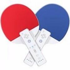 Brand NEW Sports Resort Twin Ping Pong Paddles for Nintendo Wii - Blue/Red