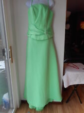 New Mori Lee BridesMaid Dress size 11/12 Light Green Two Piece Flaw Long