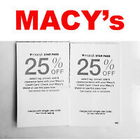 🛍️  Macy's Star Pass Coupon Code  25% OFF Ex. 10/06/20 / ** Immediate Delivery