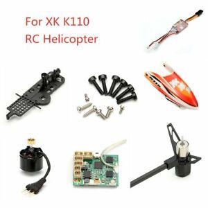 XK K110 Parts Brushless Main Motor/ESC/Main Frame/Receiver Board/Canopy/Screws