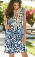 Lilly Pulitzer Carlotta Stretch Shift Dress Indigo Home Slice Size 4 $218.00
