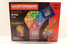 Magformers 30 Pieces Multi Color Rainbow Magnetic Building Set Standard Set Line