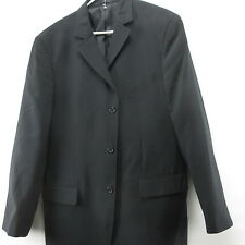 Black Berto Lucci Creazione Mens Blazer Sport Coat Jacket 44R Three Button