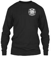 Fire Rescue S - F D Gildan Long Sleeve Tee T-Shirt