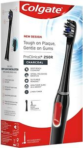 Colgate ProClinical 250R Charcoal Rechargeable Electric Toothbrush Free Deli