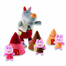 Lilliputiens : Wolf Hand Puppet and the Three Little Pigs