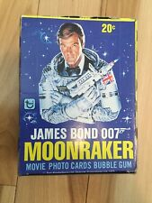 James Bond Moonraker movie cards rare full box 1979