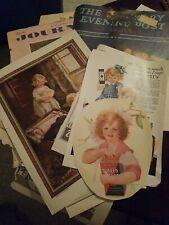 15 pcs 1920s magazine clippings sheet music children babies ephemera