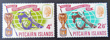 1966 Pitcairn Islands Pre Decimal Stamps: World Cup Football - Set of 2 MNH