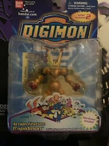 2001 Bandai Digimon Action Feature Rapidmon Figure