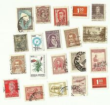 Argentina postage stamps x 20, used
