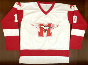 Youngblood #10 Mustangs Rob Lowe Ice Hockey Jersey Stitched White