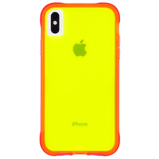 Case-Mate iPhone Xs Max Tough Neon Green Pink Neon Case