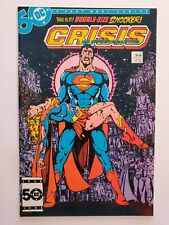 """CRISIS ON INFINITE EARTHS #7 (NM-) 1985 """"DEATH"""" of SUPERGIRL! PEREZ COVER/ART"""