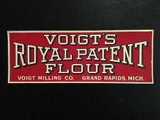 1930's Voigt's Royal Patent Flour Paper Window Sign - Grand Rapids, Michigan