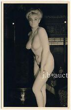 Nude Busty rubio Woman chignon/desnudas rubia peinado * vintage 50s rppc