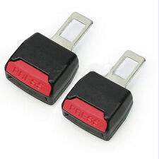 New 2PCS UNIVERSAL AUTO CAR SEAT BELT BUCKLE CLIP EXTENDER SAFETY ALARM STOPPER