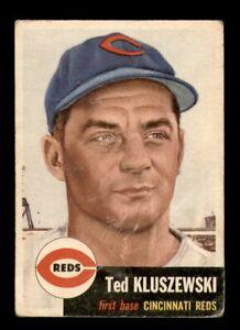 1953 Topps Set Break #162 Ted Kluszewski GD *OBGcards*