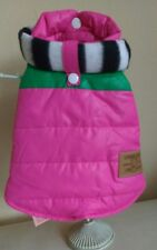 Dog Puppy Coat Quilted Pink with Scarfe 12 in back Length  small Loveable Dog