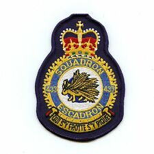 RCAF CAF Canadian 433 Squadron Heraldic Colour Crest Patch