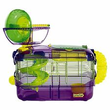 Super Pet Pets Critter Trail Habitat Hamster Gerbil Mouse Mice Fun Cage + Wheel