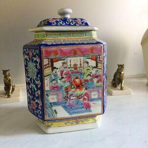 Pot Gingembre Hexagonal/Porcelaine Chinoise/Dynastie Qing/Jiaqing/début XIXth