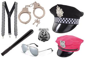POLICE COSTUME FANCY DRESS HANDCUFFS COP SHERIFF UK SPECIAL COSTUME TRUNCHEON