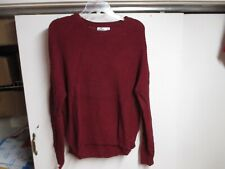 """HOLLISTER"" WOMENS KNIT SWEATER (SMALL) CRANBERRY COLOR VERY WARM"