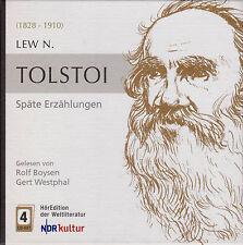 TOLSTOI: Späte Erzählungen. Der Leinwandmesser. Traum eines jungen Zaren. 4 CDs