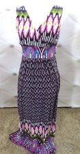 Forever Woman's Stretchy Multicolored Sun Dress Size Small