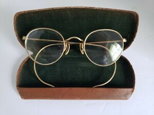 Vintage 1/10 12k GF B&L ARCO Ful-Vue Prescription Wire Frame Glasses and Case