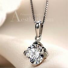 HOT Advanced 925 silver jewelry wholesale Austrian crystal pendant necklace Gift