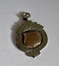 Antique Sterling Silver & Rose Gold Fob For Pocket Watch Chain Birmingham 4.8