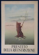 PRESTITO DELLA RICOSTRUZIONE illustrata G. KRAYER no viaggiata 1947 FG #20543