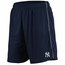 New York Yankees Majestic Mesh Shorts - Navy
