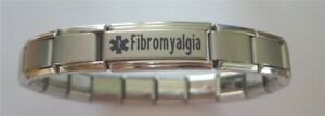 Italian Charms Fibromyalgia  Medical Alert Bracelet