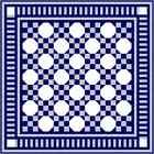 """BLUE MONDAY - 59"""" x 59"""" - Quilt-Addicts Pre-cut Patchwork Quilt Kit Lap"""