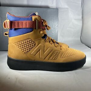 BALANCE High-Top Sneaker Boot Tan Brown HLRNALSB Rainier Moda Size 9 Hiking