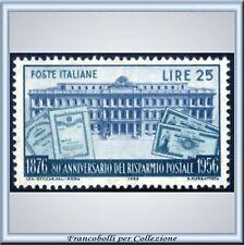 1956 Italia Repubblica Risparmio Postale n. 808 **