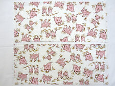 2 x New Flannelette Baby Drool Spew Burp Cloths PIGLETS~PIGS Handmade 48 x 20cm