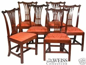 SWC-Six Carved Chippendale Chairs, Philadelphia, c.1780